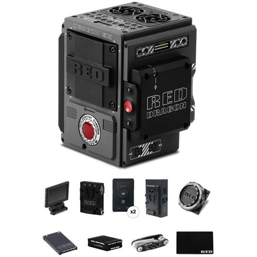 RED DIGITAL CINEMA SCARLET-W Start-Up Kit with Aluminum EF Mount, Media, Reader, Batteries & Charger