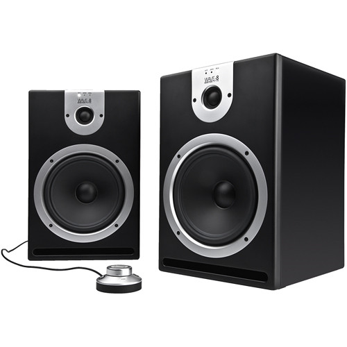 Reloop Wave-8 Active 2-Way Professional DJ Monitors (Black)