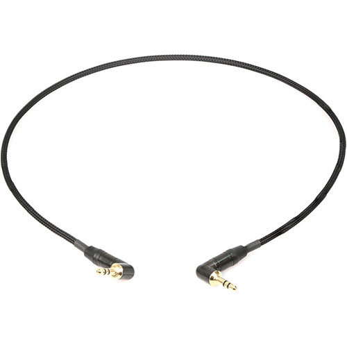 Remote Audio Stereo Jumper Cable 3.5mm Right Angle TRS plug to 3.5mm Right Angle TRS Plug (2')