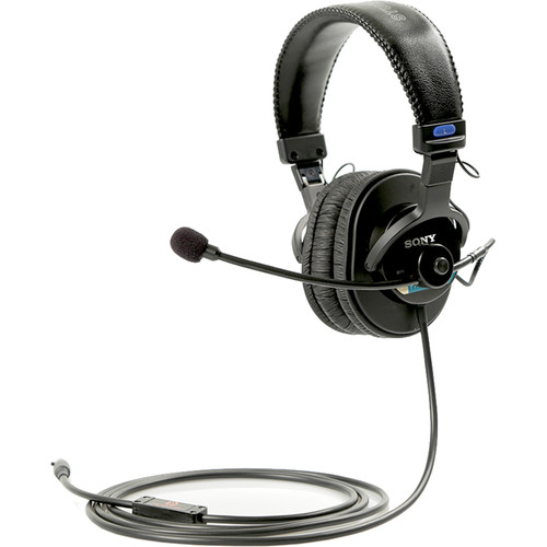 Remote Audio Sony MDR-7506 Headset/5,12-48V Switchable Electret Talkback Boom Mic. 6'Straight Cable-TA5F