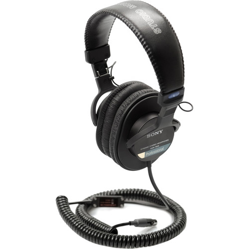 Remote Audio Sony MDR-7506 Headset/5-24V Switchable Electret Inline Mic. Coil Cable-TA5F/1.75'-8'Expanded