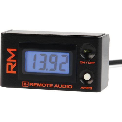 Remote Audio RMv2 Remote Meter for Battery Distribution Systems (4' Cable)