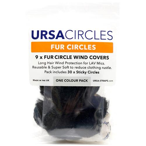 Remote Audio Ursa Fur Circles/Includes 30 Stickies- 9-Pack (Black)