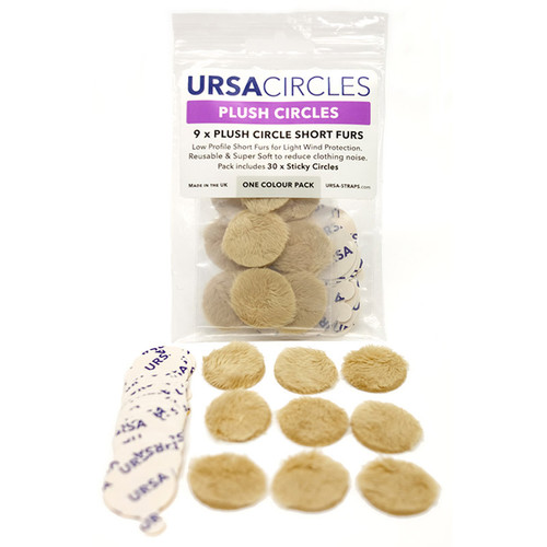 Remote Audio URSA Plush Circles with 30 Stickies (9-Pack, Beige)