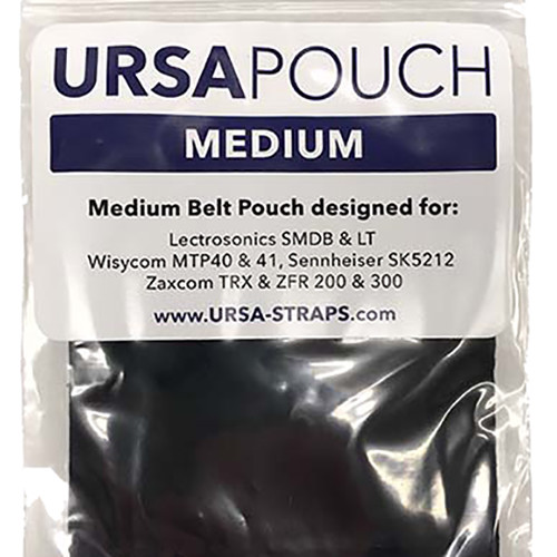 Remote Audio URSA Pouch for Wireless Transmitters (Medium, Black)