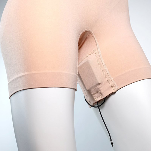 Remote Audio URSA Shorties Form Fitting Shape Wear for Woman (Small, Beige)