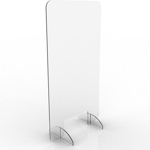 "Renegade Protective Sneeze Guard, Clear Acrylic Plexiglass Shield - 30"" T X 16W X 6"" D"