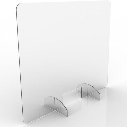 "Renegade Protective Sneeze Guard, Clear Acrylic Plexiglass Shield  - 30"" Tx 35""W X 6""D"