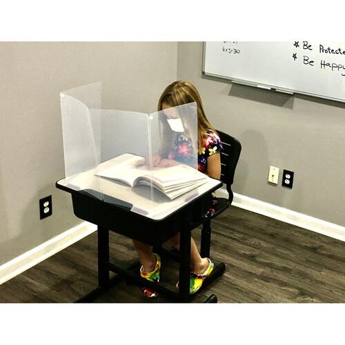 "Renegade 16"" Tall Portable Sneexe Germ Guard Protection Shield With Desk Attachment Clip"