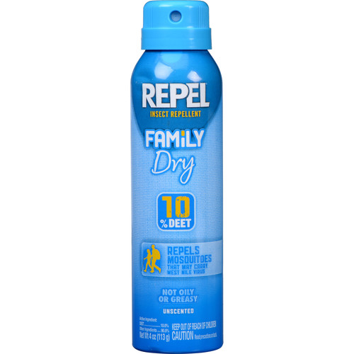Repel Family Dry Insect Repellent Aerosol with 10% DEET (4.0 oz)