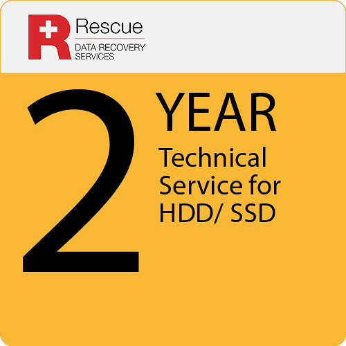 Rescue Data Recovery Service Plan for a Hard Drive/Solid State Drive (2-Year)