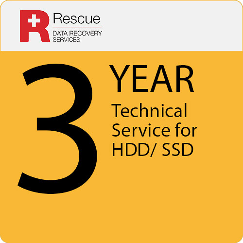 Rescue Data Recovery Service Plan for a Hard Drive/Solid State Drive (3-Year)