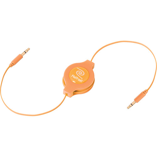 ReTrak Retractable Auxiliary Cable (Orange, 5')