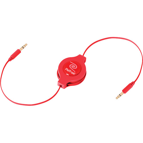 ReTrak Retractable Auxiliary Cable - Red