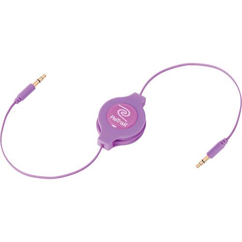 ReTrak Retractable Auxiliary Cable (Purple, 5')