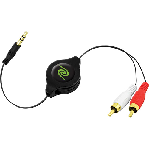 ReTrak Retractable RCA to 3.5mm Audio Cable