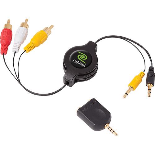 ReTrak ETCABLERCADVD Retractable Portable DVD to RCA Audio/Video Cable (6')