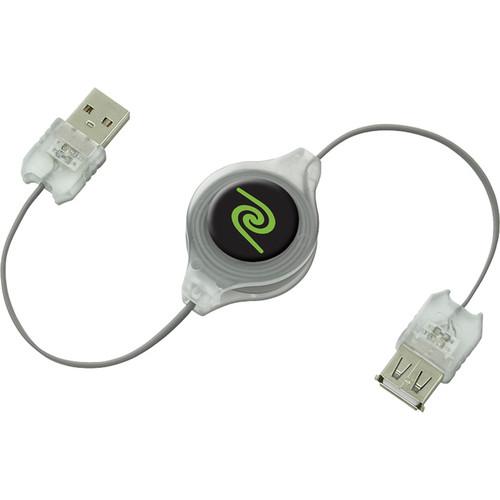 ReTrak 3.2' (0.97m) Retractable Illuminating USB 2.0 Type A Cable (Red)
