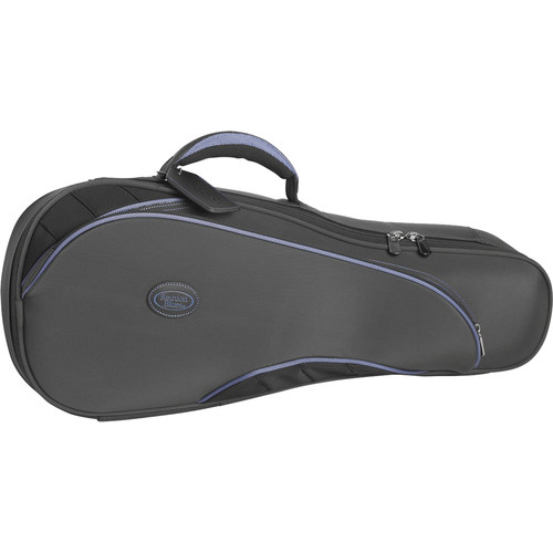 Reunion Blues RB Continental Concert Ukulele Case (Grey with Blue Piping)