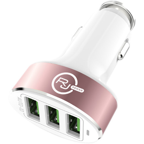 REVJAMS 25W 3-Port USB Type-A Car Charger (Rose Gold)