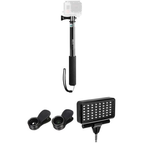 Revo Selfie Stick Mannequin Challenge Kit with Light for Smartphones