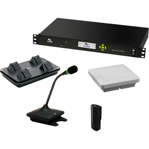 Revolabs Executive Elite 2-Channel Wireless Microphone System with revoCARE Extended Service Plan (Without Microphones)