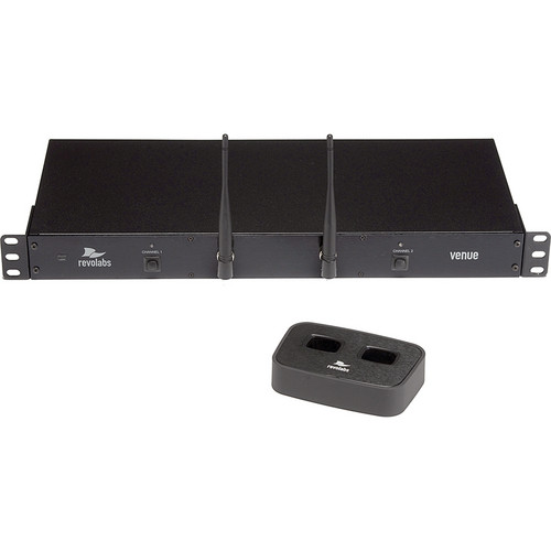 Revolabs Executive HD Venue Dual Channel Rack-Mounted Microphone System without Microphones