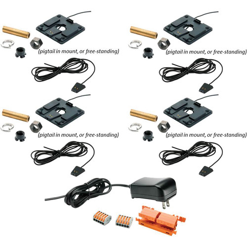 Revolabs Cross-Over Adapter for Executive Elite Tabletop Microphones (4-Pack)