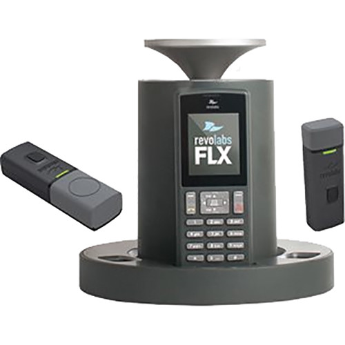 Revolabs VoIP SIP System with 1 Omnidirectional Tabletop & 1 Wearable Microphone