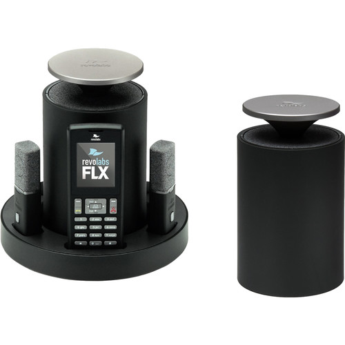 Revolabs FLX VoIP SIP Phone System with Two Wireless Speakers