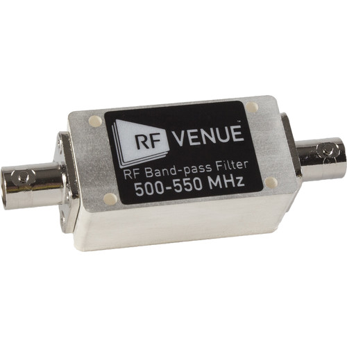 RF Venue 500 - 550 MHz Band-Pass Filter for Wireless Microphone Remote Antenna