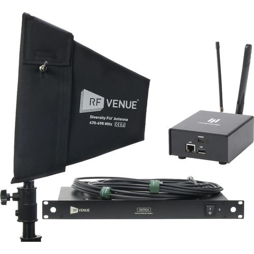 RF Venue Diversity Fin Antenna, DISTRO4, and WaveTower Bundle