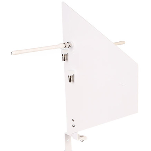 RF Venue Polarization Diversity Antenna with Wall Mount Bracket for UHF Wireless Microphone Systems (White)