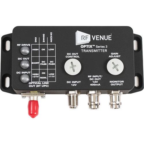 RF Venue OPTIX Series 3 RF-over-Fiber Antenna Distribution System (Dual Channel)