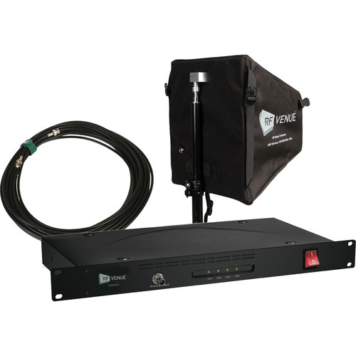 RF Venue COMBINE4 4-Channel Antenna Combiner with CP Beam Antenna and Cable Bundle