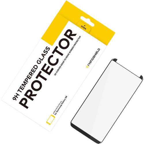 RhinoShield Tempered Glass Screen Protector for Galaxy S8 (Black)