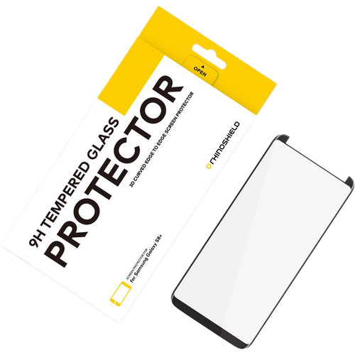 RhinoShield Tempered Glass Screen Protector for Galaxy S8+ (Black)