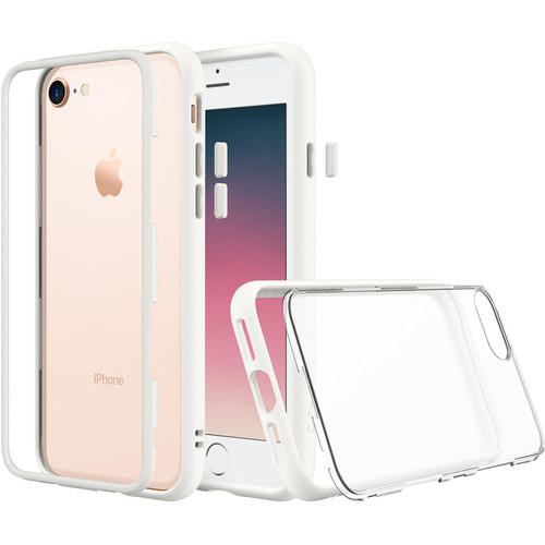 RhinoShield Mod Case for iPhone 7 Plus/8 Plus (White, Clear Backplate)