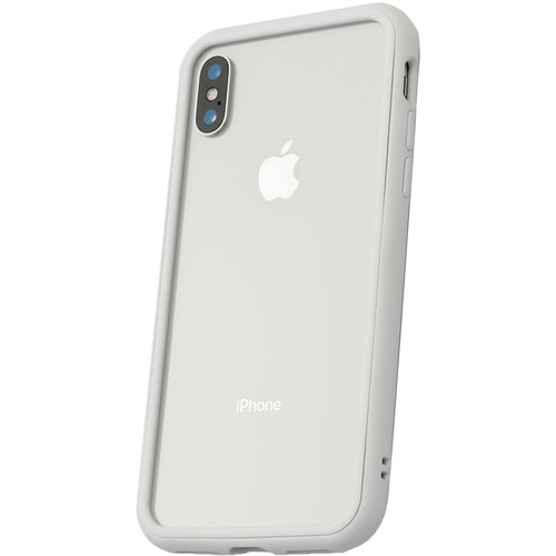 RhinoShield Mod Case for iPhone X (White, Clear Backplate)