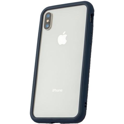 RhinoShield Mod Case for iPhone X (Dark Blue, Clear Backplate)