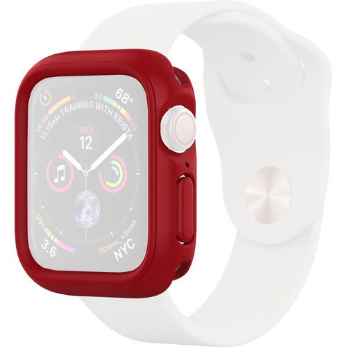 RhinoShield CrashGuard NX Frame + Rim Set for Apple Watch Series 4 (Red, 40mm)