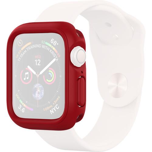 RhinoShield CrashGuard NX Frame + Rim Set for Apple Watch Series 4 & 5 (Red, 44mm)