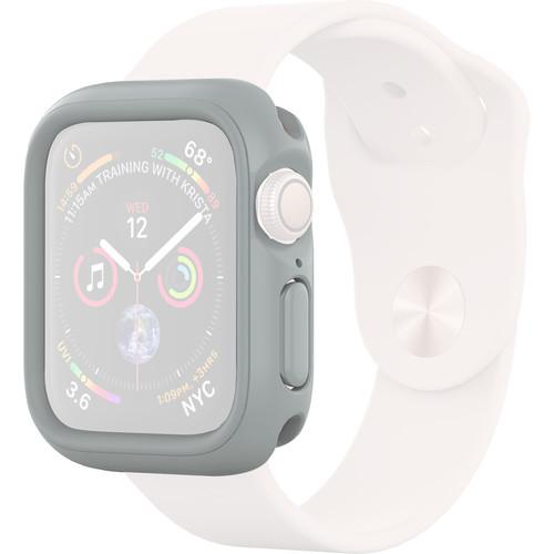 RhinoShield CrashGuard NX Frame + Rim Set for Apple Watch Series 4 (Platinum Gray, 44mm)