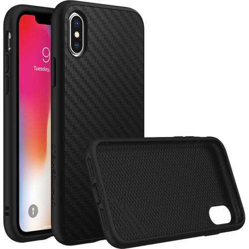 RhinoShield SolidSuit Case for iPhone X (Black Carbon Finish)