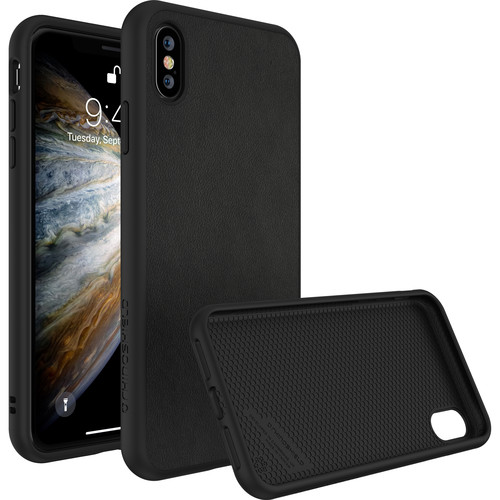 RhinoShield SolidSuit Case for iPhone X (Black Leather Finish)