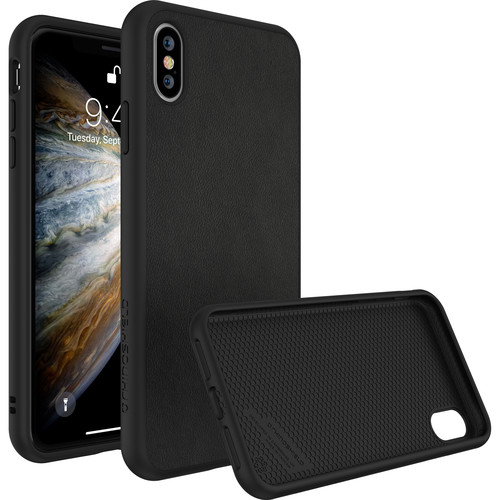 RhinoShield SolidSuit Case for iPhone XS (Black Leather Finish)