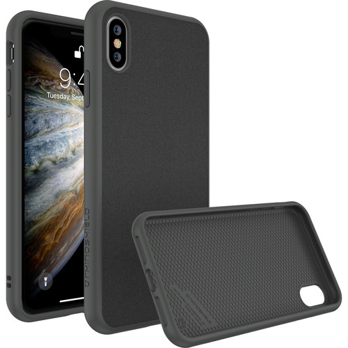 RhinoShield SolidSuit Case for iPhone XS (Graphite Microfiber Finish)