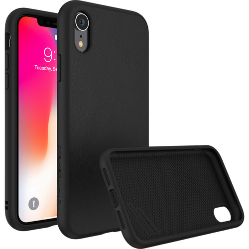 RhinoShield SolidSuit Case for iPhone XR (Black Leather Finish)