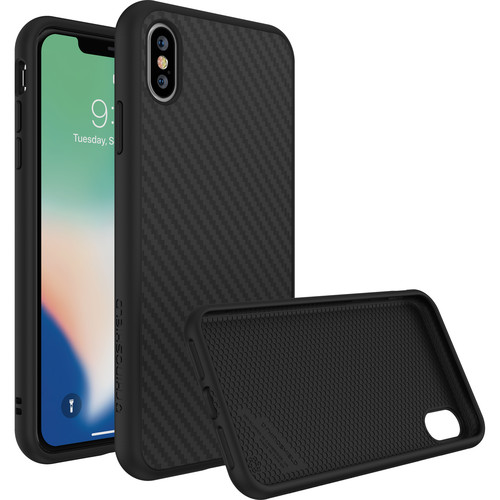 RhinoShield SolidSuit Case for iPhone XS Max (Black Carbon Finish)
