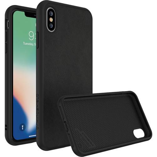 RhinoShield SolidSuit Case for iPhone XS Max (Black Leather Finish)